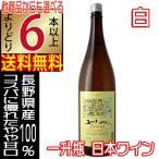 五一ワイン エコノミー Economy 白 1800ml やや甘口 一升瓶サイズ  [ 長野県 国産ワイン 白ワイン ] よりどり6本以上送料無料