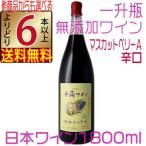 予約 井筒ワイン 2016 新酒 無添加マスカットベリーA 赤 辛口 1800ml  国産ワイン よりどり6本以上送料無料
