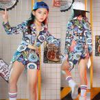 ジャズダンス 衣装  女の子  ダンス衣装 キッズ 子供 チアガール ダンス衣装 キッズダンス衣装 ガールズ  セットアップ 発表会 練習着 hiphop