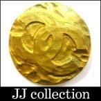 CHANEL 丸型ココマーク ブローチ ゴールド