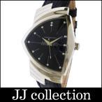 HAMILTON ハミルトン メンズ腕時計 ベンチュラ SS×レザー クオーツ ブラック