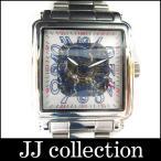TECHNOS テクノス メンズ腕時計 自動巻き スケルトン SS TGM680【中古】[wa]