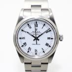 【中古】ロレックス エアキング 腕時計 ステンレス ローマン 白文字盤 自動巻き/AT Ref.14000 X番