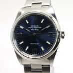 ROLEX ロレックス エアキング ネイビー文字盤 14000M メンズウォッチ 腕時計 K番【中古】[ic]
