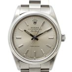 【中古】ロレックス エアキング SS 自動巻き シルバー文字盤 メンズ腕時計 E番 14000