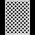 ショッピングラティス フェンス ラティス ホワイト格子ラティス1200×900mm