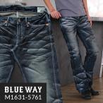 BLUEWAY ブーツカット ジーンズ エンジニアフレアカット ビンテージデニム(ブラックシェーバー):M1631-5761 ブーツカット