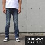 BLUEWAY セミ ブーツカットジーンズ ソリッドストレッチデニム(ハードビンテージ):M1882-5504