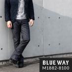 BLUEWAY セミ ブーツカットジーンズ ソリッドストレッチデニム(ワンウォッシュ):M1882-8100