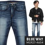 BLUEWAY ストレートジーンズ 13.5ozビンテージデニム(オールドブルーブリーチ):M1927-4654