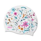[HOOG 10% OFF] スイムキャップ シリコン レディース メンズ 水泳帽 HOOG SDK21 花柄 flowerbeds ゆうパケット送料無料