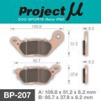 BP-207 エコスポーツレボブレーキパッド プロジェクトミュー ヤマハ エヌマックス シグナス YAMAHA NMAX CYGNUS YBR125 YZF-R15