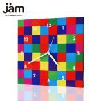 ショッピングJAM Showycolors  おしゃれな掛け時計 ファブリック時計 掛け時計 掛時計 壁掛け