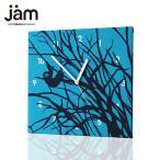 ショッピングjam 【セール対象】SLOTH in the day timeブルー  おしゃれな掛け時計 ファブリック時計 掛け時計 掛時計 壁掛け