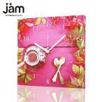 デザイナーズ掛け時計 おしゃれ tea time clock pink   おしゃれな掛け時計 ファブリック時計 掛け時計 掛時計