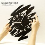 ショッピング掛け時計 壁掛け時計 おしゃれ 「Drawing time  」