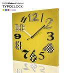 掛け時計 おしゃれ ファブリックパネル デザイン インテリア TYPOCLOCK タイポクロック