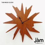 壁掛け時計 おしゃれ 「TAM WOOD CLOCK」 タムウッドクロック 木製