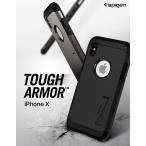 iPhone XS Spigen Tough Armor 米軍 ガラスフィルムプレゼント 耐衝撃 iphone x ケース アイフォンx ケース かっこいい スマホケース ブランド iphoneケース