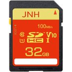 SDカード SDHCカード 32GB JNH 超高速100MB s 最大転送速度 Class10 UHS-I U1 V10対応 エコパッケージ 国内正規品 5年保証