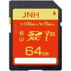 SDカード SDXC 64GB JNHブランド 超高速R_100MB/s W_70MB/s Class10 UHS-I U3 V30対応 4K Ultra HD  国内正規品5年保証