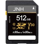 SDカード SDXCカード 512GB JNHブランド R_90MB/s W_80MB/s Class10 UHS-I U3 V30対応 4K Ultra HD  国内正規品5年保証 翌日配達対応