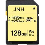 SDカード SDXCカード 128GB JNH UHS-II 超高速280MB s Class10 U3 V90 8K Ultra HD 対応  国内正規品 5年保証