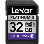 開店10周年記念一人2枚限定 Lexar PlatinumII SDHC UHS-I カード 32GB class10 クラス10 200倍速 30MB/s 海外向けパッケージ品