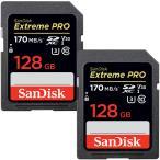 ショッピング個 2個セットお買得  Extreme Pro UHS-I U3 SDXC 128GB class10 SanDisk 95MB/s V30 4K Ultra HD対応 海外向けパッケージ品【3年保証】SA1410XXG-2P