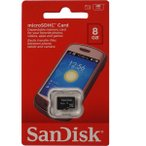 microSDカード マイクロSD microSDHC 8GB SanDisk サンディスク 超高速クラス4  海外向けパッケージ品