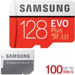 microSDXC 128GB SAMSUNG ���ॹ�� Class10 U3 4K�б� R:100MB/s W:90MB/s UHS-I EVO Plus SD�����ץ����� �����ѥå�����