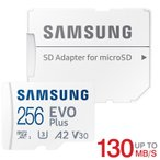 雅虎商城 - microSDXC 256GB Samsung サムスン EVO Plus EVO+ R:100MB/s W:90MB/s UHS-I U3 Class10海外パッケージ SM3311MC256G