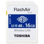 東芝 TOSHIBA 無線LAN搭載 FlashAir W-04 第4世代 Wi-Fi SDHCカード 16GB UHS-I U3 90MB/s Class10 日本製 海外パッケージ品