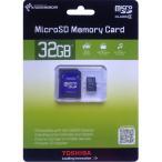 microSDカード マイクロSD microSDHC 32GB Toshiba 東芝 超高速クラス4 SDアダプタ付 海外向けパッケージ品