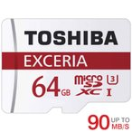 雅虎商城 - microSDカード microSDXC 64GB 東芝Toshiba 超高速UHS-I U3 90MB/S 4K対応 海外パッケージ品【3年保証】