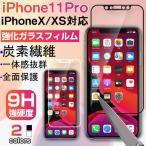 DM便送料無料iPhone X 用強化ガラスフィルム 全面フルカバータイプ 9H ソフトエッジ 液晶保護 炭素繊維 強化ガラスフィルム