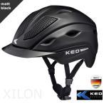 乗馬用ヘルメット KED XILON(黒 マットブラック) 乗馬ヘルメット 帽子 欧州安全基準認証 サイズ調整 インナー洗濯可 LED安全ライト 乗馬用品