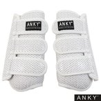 ANKY テクニカルホースブーツ AHB1 左右2点セット(白 ホワイト) 馬用レッグプロテクター 足プロテクター アンキー 前肢 後肢 脚ガード 馬具 乗馬用品