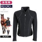 Equi-Theme フリースジャケット レディース 女性用(黒ブラック)  乗馬ウェア 上着