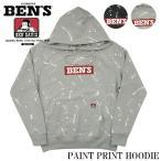 ショッピングプリント BEN DAVIS ベンデイビス スウェット パーカー ペイントプリント PAINT PRINT HOODIE