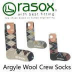 rasox/ラソックス アーガイルウール・クルー ソックス