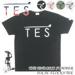 TES/エンドレスサマー TESロゴ フロッキープリント Tシャツ