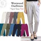 WWO405 ウエストウッドアウトフィッターズ Westwood Outfitters ストレッチ トリックジップ テーパード ストレッチ カラー タックパンツ おしゃれ