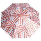 CARVEN カルヴェン ロンポワン 折りたたみ傘 オレンジ/ブルーグレー 4ライン幾何学模様 新品