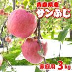 (送料無料)青森りんごサンふじ(家庭用)3kg9から14玉 (サイズ不揃い)訳ありリンゴ 4月よりクール便配送