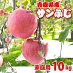 (送料無料)青森りんごサンふじ(家庭用)10kg24から36玉 葉とらずりんご (青研)(サイズ不揃い)訳ありリンゴ 4月よりクール便配送