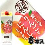 (送料無料)6本 葉とらずりんごとにんじんミックスジュース