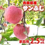 (送料無料)青森りんごサンふじ(家庭用)2.5kg前後10玉 産地直送(サイズ不揃い)訳ありリンゴ