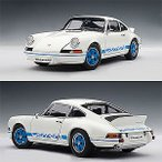 オートアート 1/ 18 ポルシェ 911 カレラ RS 2.7 1973 ホワイト/ ブルー(78052)ミニカー 返品種別B