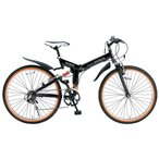 マイパラス 折りたたみ自転車 ATB 26インチ 6段変速 Wサス(ブラック) MYPALLAS M-670 返品種別B